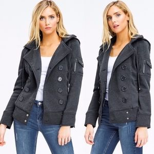 CHANDY Hooded jacket - CHARCOAL